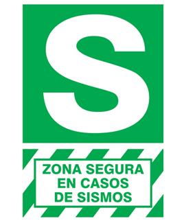 señalizacion letrero sismo