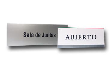 señalización letreros oficina