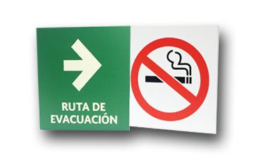 letreros protección civil